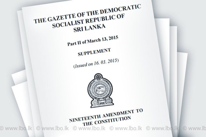 Sri Lanka's business chamber urges political parties to support delayed 19th amendment