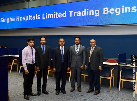 Sri Lanka's Singhe Hospitals opens for trading