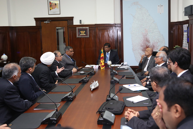 Indian Tata Group representatives meet Sri Lanka's Finance Minister