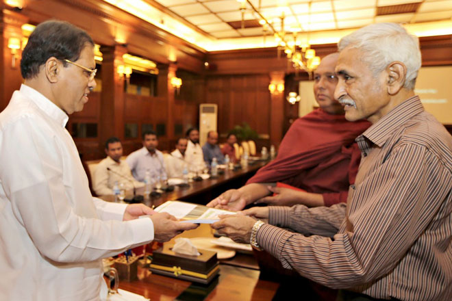 Report on Wilpattu resettlement presented to President Sirisena