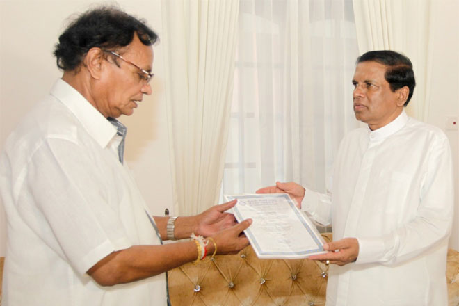 Sri Lanka President appoints three new SLFP organizers