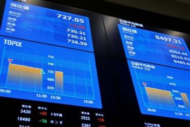 Asian stocks volatile, China market drops 8.4 pct