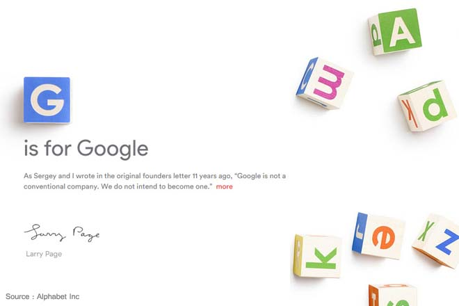 Google to become a subsidiary of Alphabet under major restructuring plan