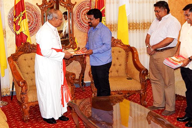 JVP meets His Eminence Cardinal Malcolm Ranjith