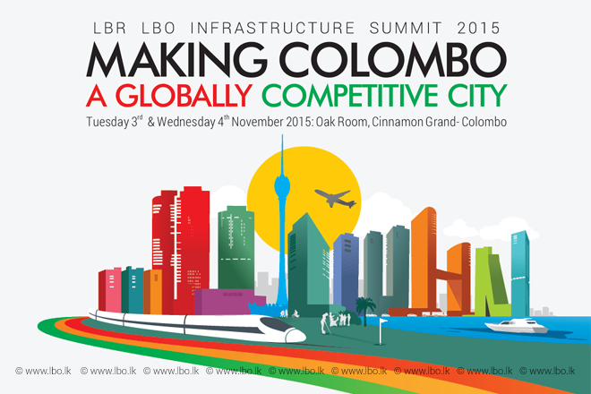 """LBR LBO Infrastructure Summit 2015 – """"Making Colombo a Globally Competitive City"""" – 3rd & 4th November 2015"""