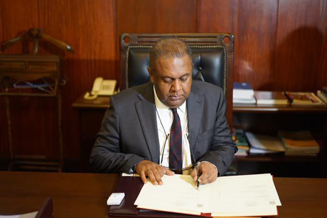 Mangala Samaraweera assumes duties as Foreign Minister of Sri Lanka