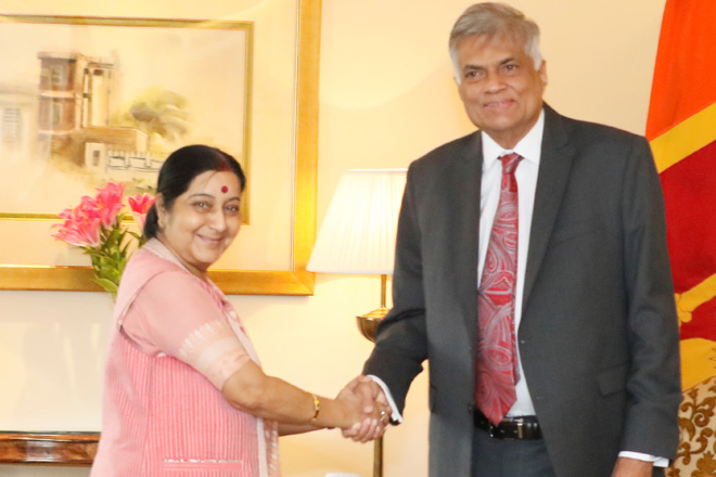 Indian Foreign Minister Sushma Swaraj to visit Sri Lanka