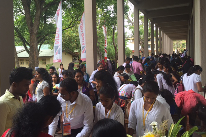 Graduates and Undergraduates throng to Rajarata University seeking jobs