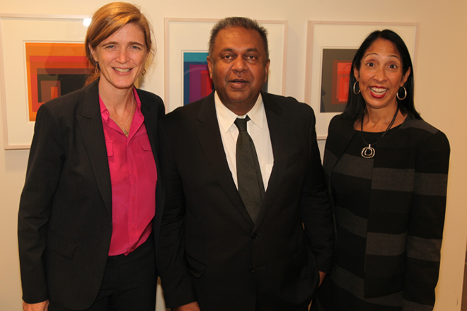 Mangala meets US Ambassador Samantha Power