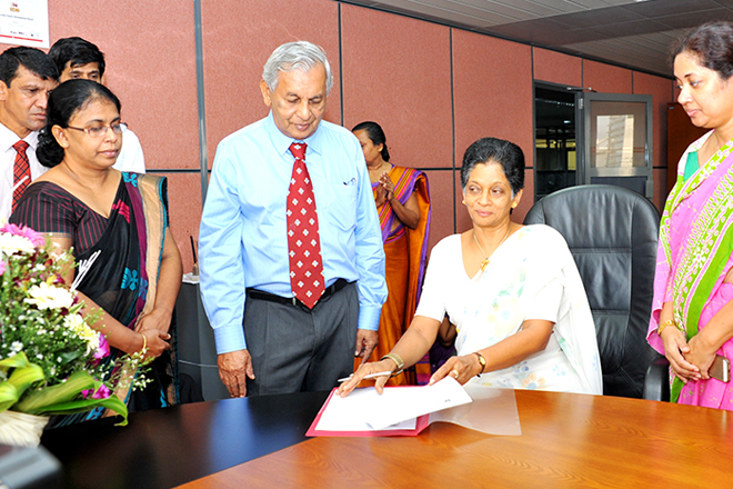 Indira, the first woman Chair of Lanka exports