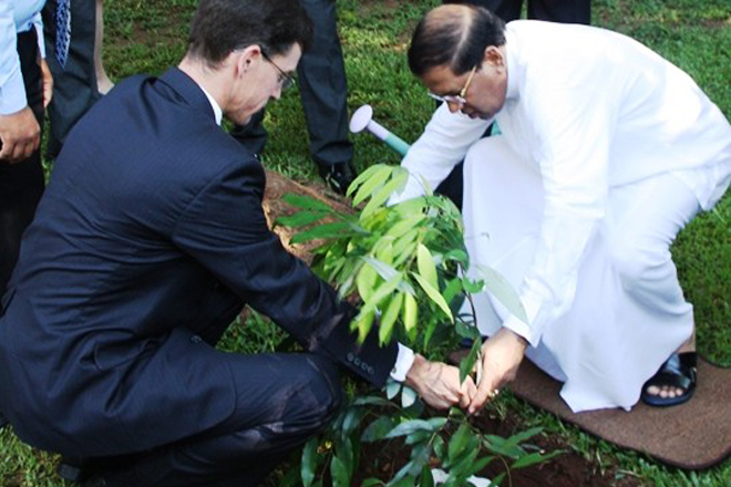 President plants 'Na' tree at Westminster House