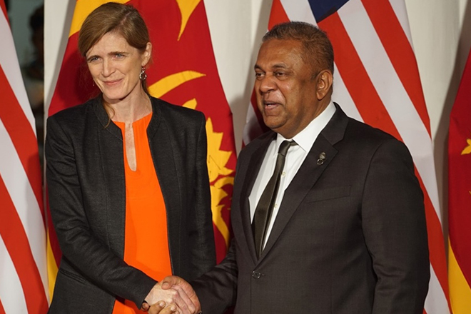Mangala welcomes Samantha Power, US permanent representative to UN