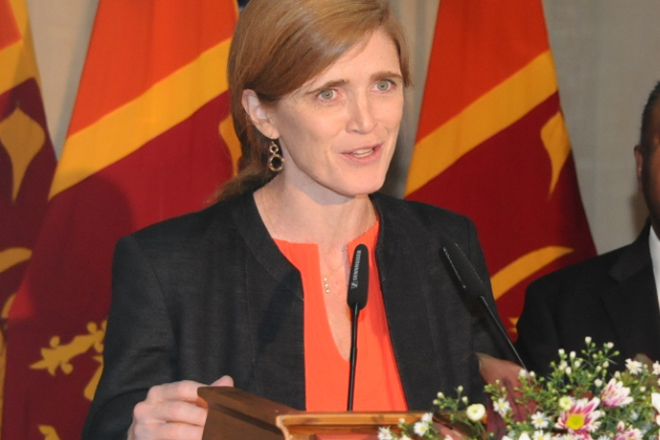 Sri Lanka's change is inspiring, says Samantha Power