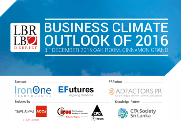 "LBR LBO Debrief – ""Business Climate Outlook of 2016"" – Tuesday, 8th December 2015"