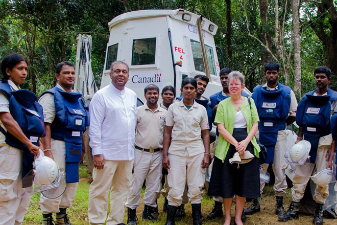 Working to make Sri Lanka mine-impact free by 2020 a reality