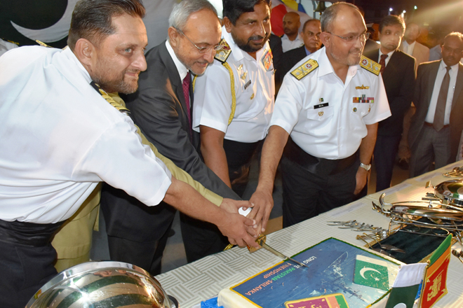 Reception on board Pakistan Naval Ship Shamsheer in Colombo