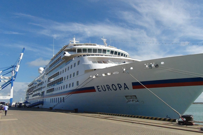luxury passenger vessel Europa calls Port of Hambantota