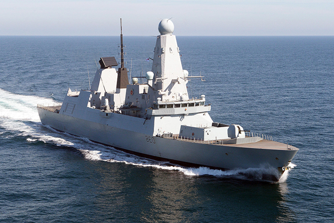 Warship HMS Defender in Colombo