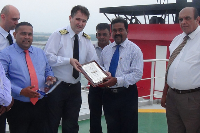 K Line car carrier 'HYPERION HIGHWAY' makes maiden visit to Hambantota Port