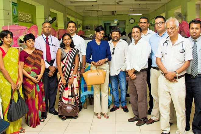 ODEL team with doctors and staff of the hospital at its opening