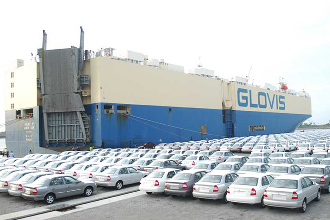Vehicle imports up 60-pct in 2015, 7-pct of total imports: CCC