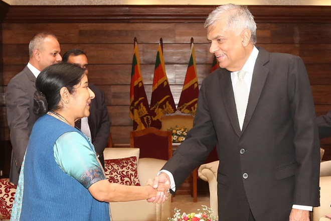 Prime Minister meets Indian External Affairs Minister