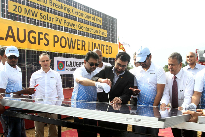 Sri Lanka's largest solar power plant by LAUGFS takes off ground