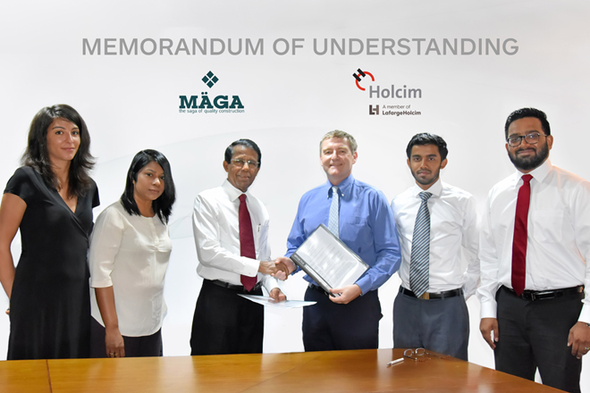 Holcim Lanka and Maga initiates sustainable green building practices