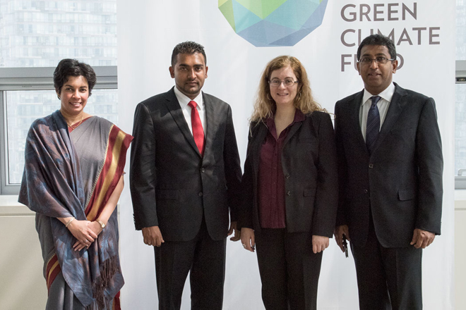 Sri Lanka officials meet Green Climate Fund