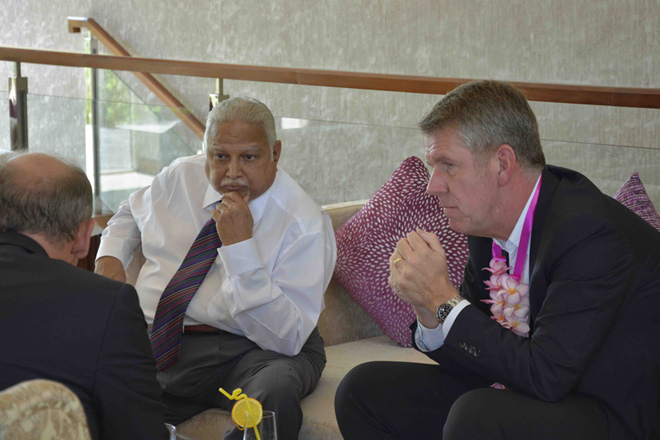 DHS Jayawardena with Fritz Joussen