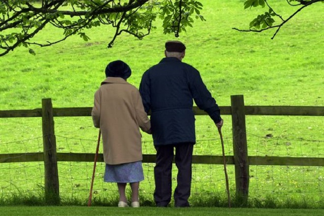 Elderly pensions ageing senior