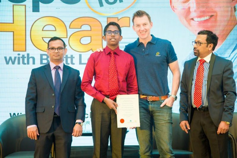 Global Ambassador of Cochlear Brett Lee on a visit to Sri Lanka – promoting hearing wellness