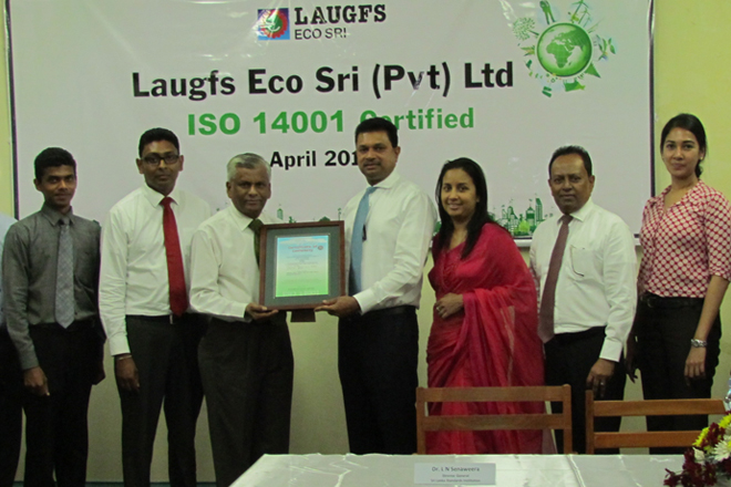 LAUGFS Eco Sri, first to be ISO 14001 certified in emission services in South Asia