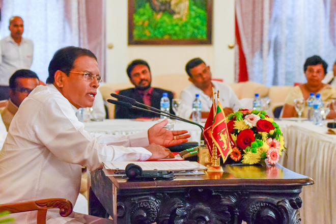 President responds to NPC resolution, won't allow Sri Lanka to be divided