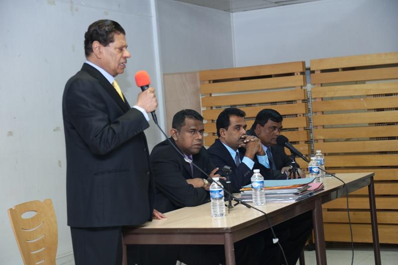 Ambassador Tilak Ranaviraja addressing the gathering