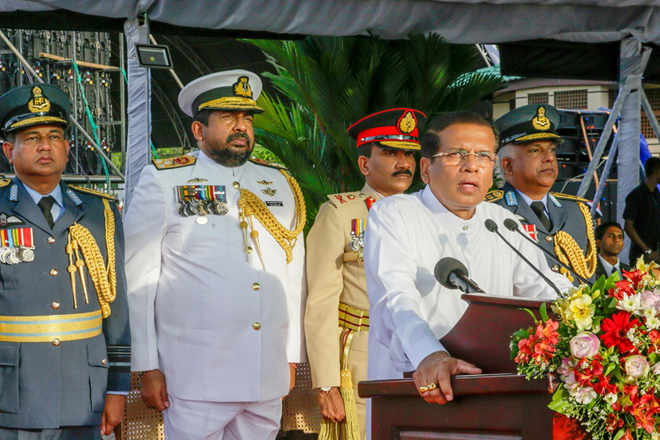 We're not putting Sri Lanka's war heroes behind bars: President