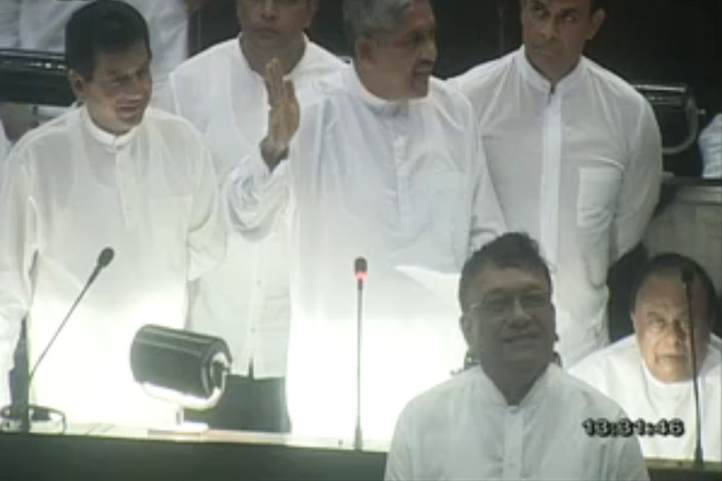 Sri Lanka's MPs clash in Parliament, one hospitalized