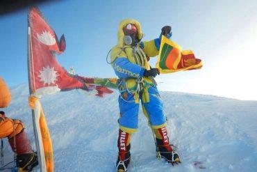 Sri Lankan climber successfully summits Mt Everest