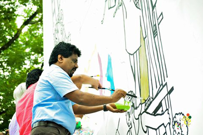 Anura Kumara's brush-strokes at brotherhood day