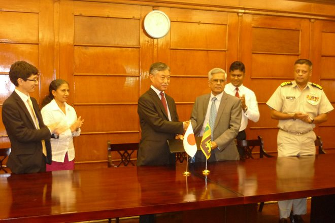 Japan provides Rs2.4bn aid for Sri Lanka's maritime safety