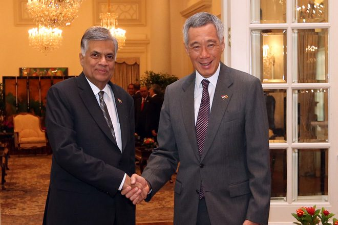 Singapore leaders pledges support for Sri Lanka