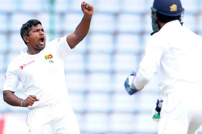 Sri Lanka's Rangana Herath takes hat-trick against Australia