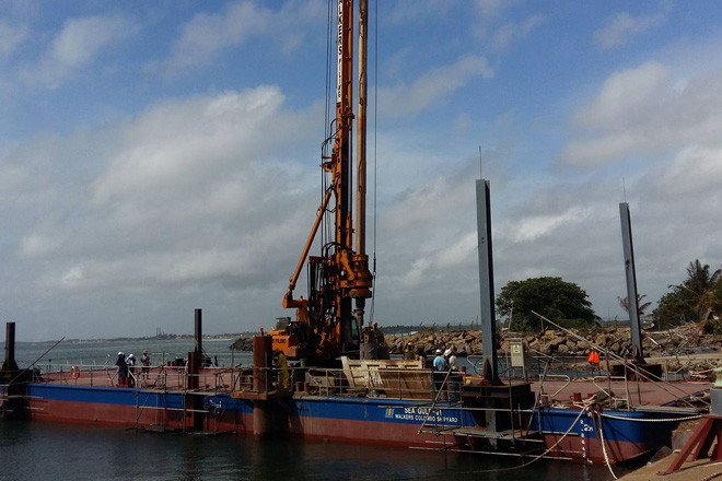 Walkers Piling commences Sri Lanka's first sea piling project