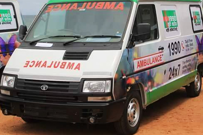 Sri Lanka to continue '1990' ambulance service with govt funds