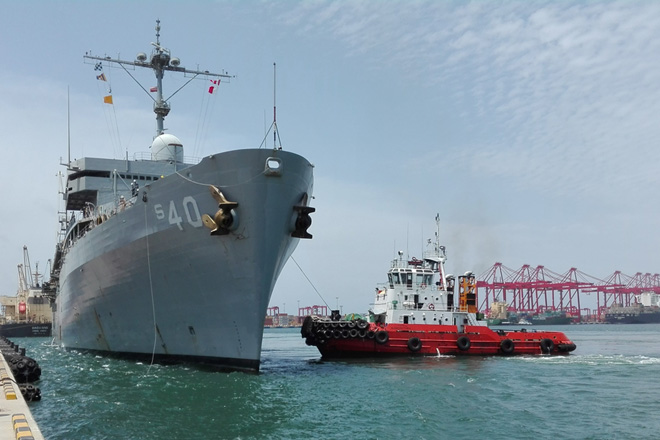 Advantis extends port side logistics support to USS Frank Cable