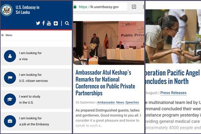 US Embassy launches new website for Sri Lanka