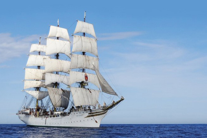 World's oldest working full-rigged ship arrives in Sri Lanka