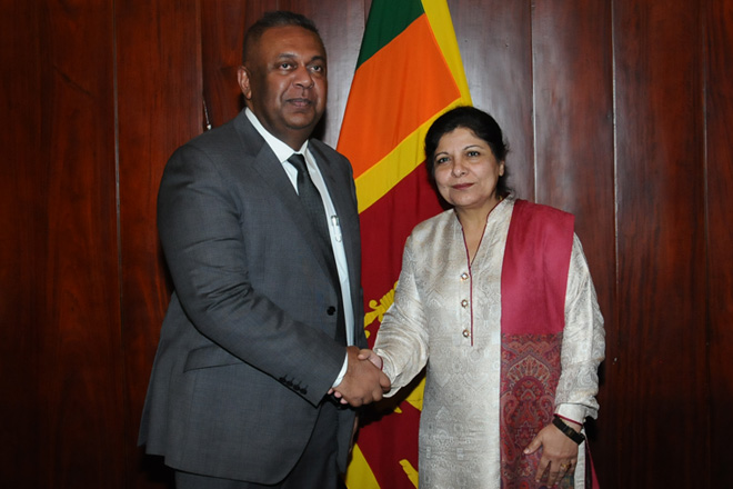 Foreign Minister meets UN Under-Secretary General Dr. Akhtar