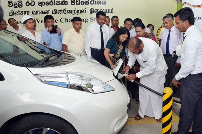 Sri Lanka introduces electronic card to charge electric vehicles