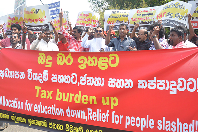 Sri Lanka's Marxist JVP protest against VAT